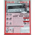 1962 Hallicrafters Short Wave Radio Vintage Print Ad