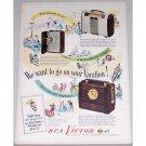 1948 RCA Victor Portable Radios Color Print Ad