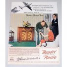 1945 Bendix Radio Color Wartime Themed Color Print Ad - Welcome Back
