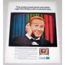 1967 Philco Television Color Print Ad Celebrity Red Buttons
