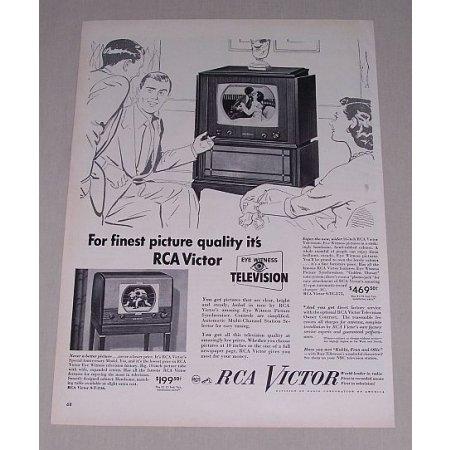 1949 RCA Victor 16 Television Model # 9-TC-275 Vintage Print Ad