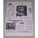 1949 RCA Victor 16 Television Model # 9-TC-275 Vintage Print Ad