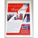 1934 Eveready Batteries Color Print Ad The Date-Line Tells You