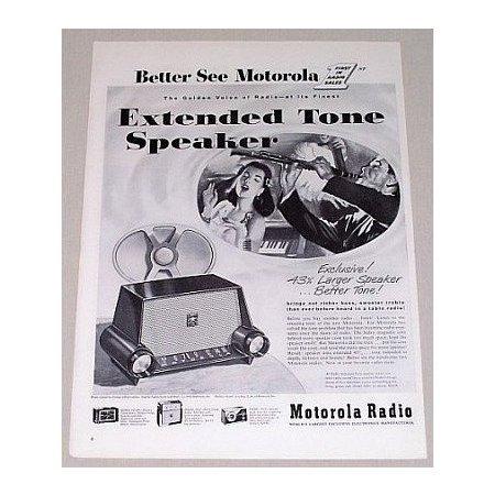 1953 Motorola Model 53H1 Extended Tone Speaker Vintage Print Ad