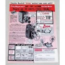1961 Mansfield Holiday Camera Projector Splicer Vintage Print Ad