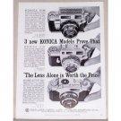 1959 Konica Cameras Vintage Print Ad - Models That Prove