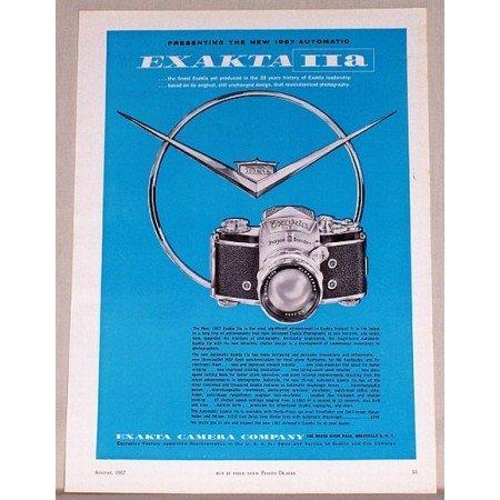 1957 Exakta IIa Camera Color Print Ad
