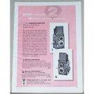 1957 Minolta Autocord Reflex Cameras Vintage Print Ad - Perfectionists