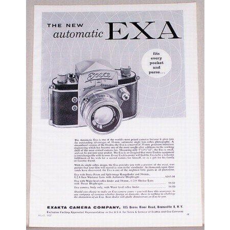 1957 Exa Automatic 35mm Camera Vintage Print Ad - Fits Every Pocket