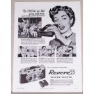 1953 Revere 33 Stereo Camera Vintage Print Ad - So Lifelike