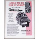 1957 Rolleiflex Automatic Camera Vintage Print Ad