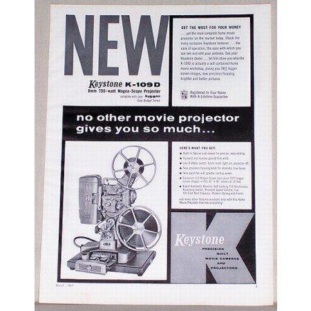 1957 Keystone K-109 Magna-Scope Projector Vintage Print Ad
