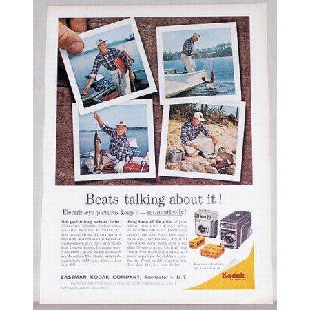 1961 Kodak Brownie Starmatic II Camera Fishing Color Print Ad