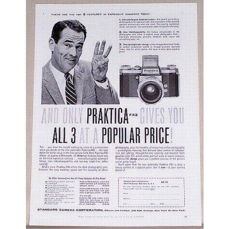 1957 Praktica FX3 Camera Vintage Print Ad - 3 At A Price