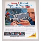 1961 Kodak Zoom 8 Automatic Camera Color Print Ad