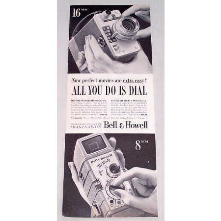 1956 Bell & Howell 200S Auto 220 Wilshire Camera Vintage Print Ad
