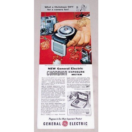 1956 General Electric Guardian Exposure Meter Color Print Ad