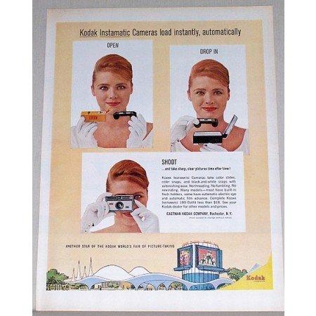 1964 Kodak Instamatic Cameras Color Print Ad