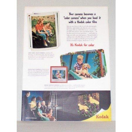 1948 Kodak Color Film Color Print Ad - Kodak For Color