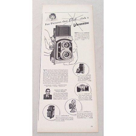 1948 Universal Uniflex II Camera Vintage Print Ad - Pics That Click