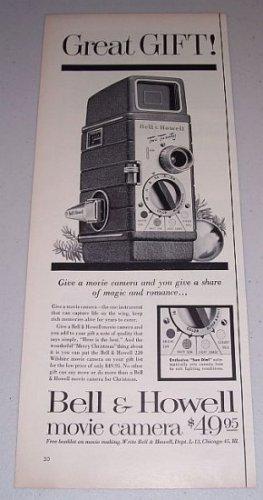 1954 Bell Howell 220 Wilshire Movie Camera Vintage Print Ad