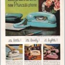1960 Bell Telephone System Princess Phone Color Print Ad