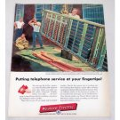 1956 Western Electric Telephone Switching Apparatus Color Print Ad