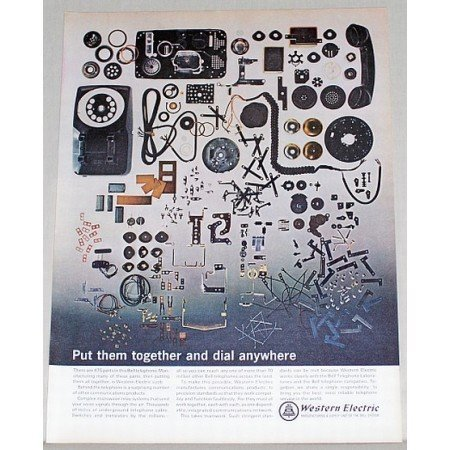 1965 Western Electric Telephone Color Print Ad - Put Them Together