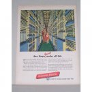 1950 Western Electric Bell System Color Print Ad - One Finger