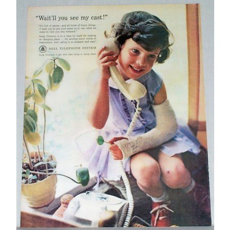1962 Bell Telephone Systems Color Print Ad