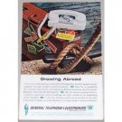 1961 General Telephone Systems Color Print Ad - Growing Abroad