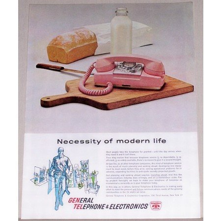 1961 General Telephone Color Print Ad - Modern Life