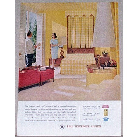 1962 Bell Telephone System Color Print Ad - Finishing Touch