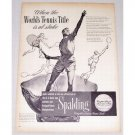 1947 Spalding Wright and Ditson Tennis Ball Davis Cup Vintage Print Ad