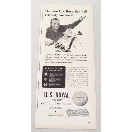 1948 U.S. Royal Golf Balls Vintage Print Ad - Certainly Can Travel