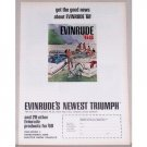 1968 Evinrude 55 HP Outboard Motor Color Print Ad