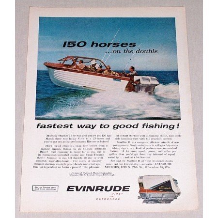 1960 Evinrude Starflite II Outboard Motor Color Print Ad