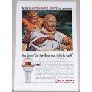 1961 Johnson Super Sea Horse Outboard Motor Color Print Ad