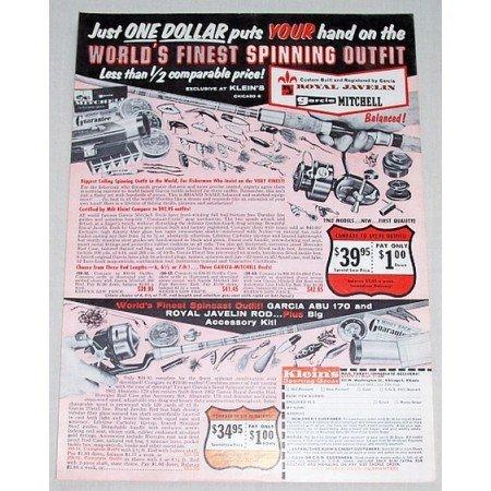 1961 Royal Javelin Rod & Reel Fishing Supplies Vintage Print Ad