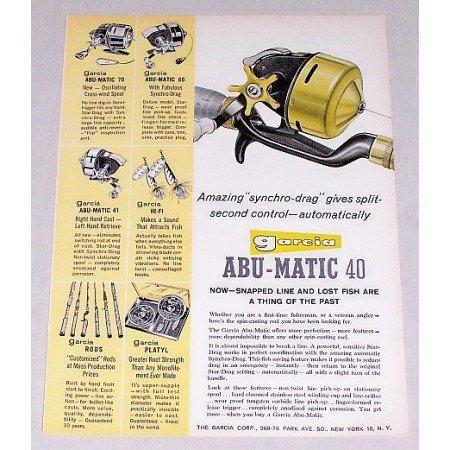 1960 Garcia Abu-Matic 40 Fishing Reel Color Print Ad