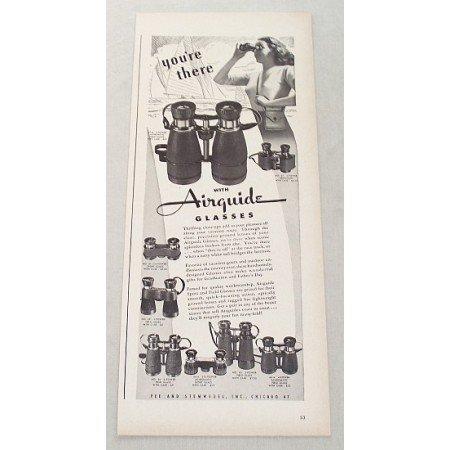 1947 Airguide Sport and Field Glasses Binoculars Vintage Print Ad