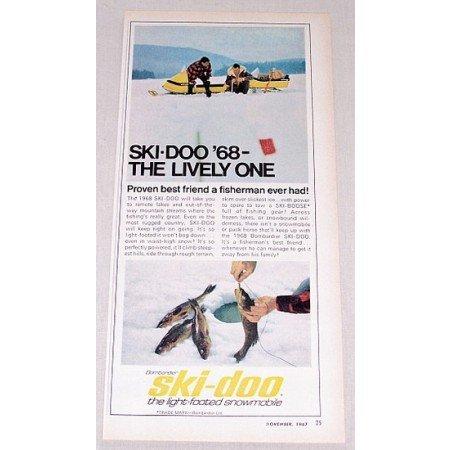 1967 Color Print Ad for 1968 Ski Doo Snowmobile