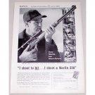 1961 Marlin Micro Groove 336-C Rifle Vintage Print Ad