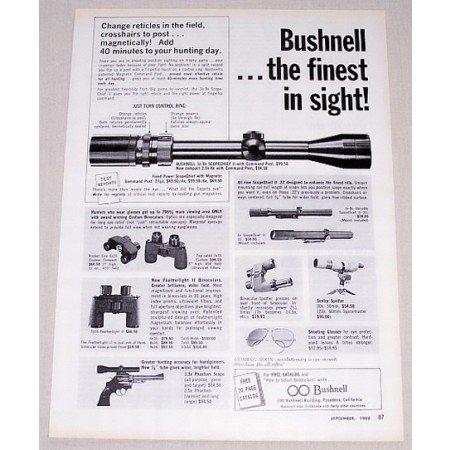 1966 Bushnell Scopechief II Rifle Scope Vintage Print Ad - The Finest