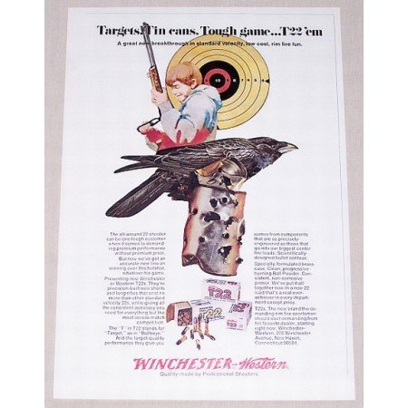 1971 Winchester Western T22s Rifle Shells Color Print Ad
