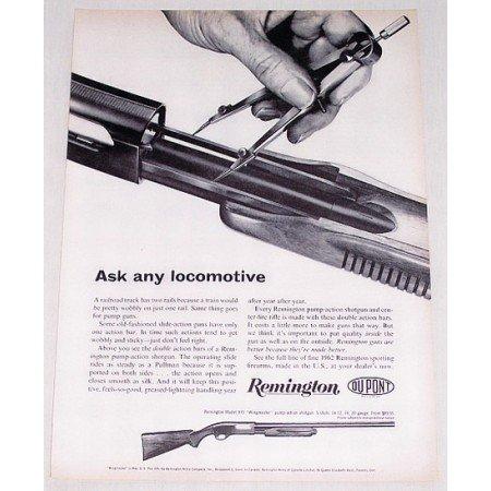 1961 Remington Model 870 Wingmaster Pump Shotgun Vintage Print Ad
