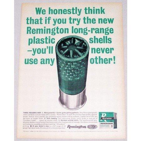 1961 Remington 12 Ga Long Range Shotgun Shells Color Print Ad