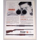 1956 Savage Stevens Fox Shotguns Color Color Print Ad