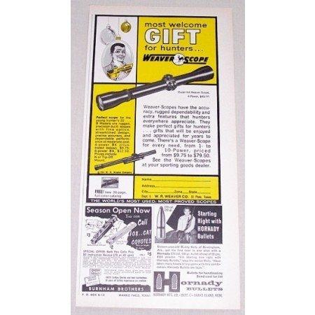1961 Weaver Scope Model K4 Rifle Scope Color Print Ad