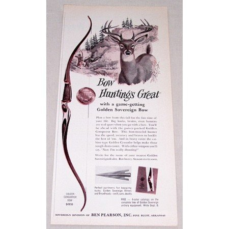 1961 Savage Model 340 High Power Rifle Deer Animal Art Vintage Print Ad